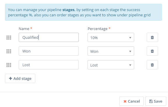 Pipeline stages