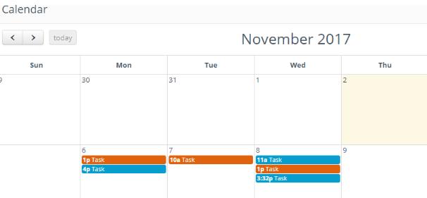 Adding a task on calendar