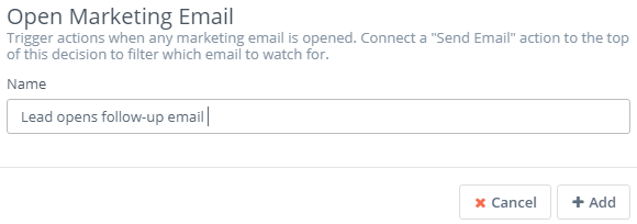 Open marketing email
